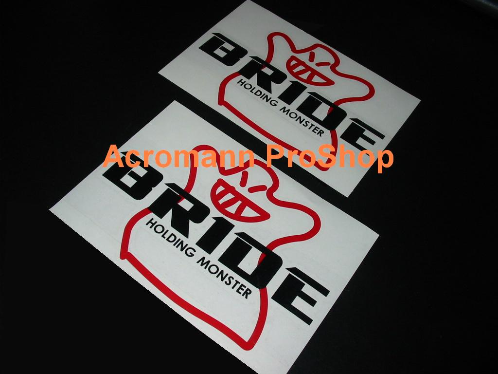 BRIDE 6inch Decal (Style#1) x 2 pcs